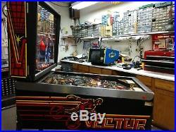 Bally Vector Rare Pinball Machine Multi Level Coin Operated Kokomo, Indiana