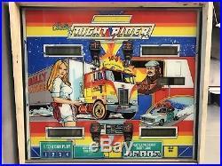 Bally Vintage Night Rider Pinball Machine 1977