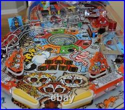 Beautifully restored! Bad Cats 1989 Williams pinball machine! New playfield
