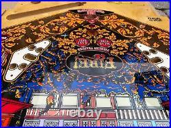 Beautifully restored! Fire 1987 Williams pinball machine! New playfield