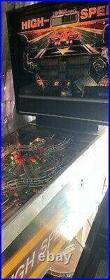 Beautifully restored! High Speed 1986 Williams pinball machine! Works great