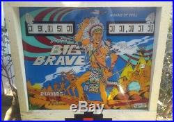 Big Brave Gottlieb Pinball 1974