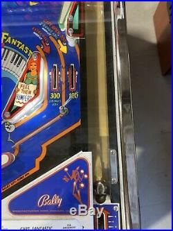 Captain Fantastic Pinball Machine Elton John Bally 1976 Restored Free Shipping