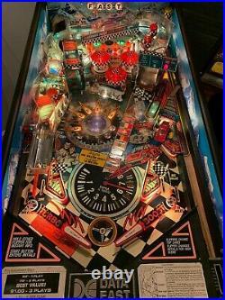 Checkpoint Porsche Race Car Pinball Arcade Machine Data East 1991