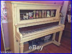 Coin-Op Player Piano with Vacuum Operated FiquresPlays 10 Tunes from Paper Roll