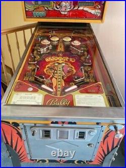 Collectors Mata Hari 1978 Original Vintage Pinball Machine by Bally