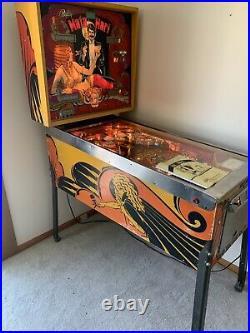 Collectors Mata Hari 1978 Original Vintage Pinball Machine by Bally VHTF