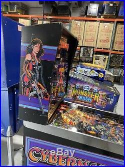 Cybernaut Pinball Machine Bally Coin Op Arcade 1985 Free Shipping