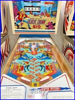 D. Gottlieb QUICK DRAW PINBALL MACHINE RESTORED TO PERFECTION WOW