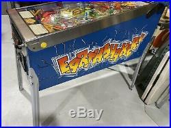 Earthshaker Pinball Machine Williams Coin Op California Nevada Pat Lawlor LEDs