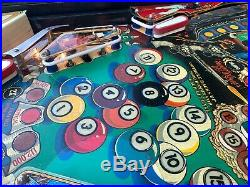 Eight Ball Deluxe Pinball Machine By Bally Collectible Billiards Themed Arcade