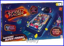 Electronic Super Pinball Complete With Plenty Of Lights & Sounds Gift For Kids