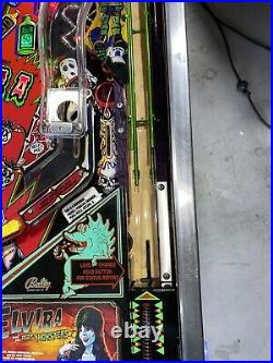 Elvira and the Party Monsters Pinball Machine Williams 1989 LEDs Free Ship