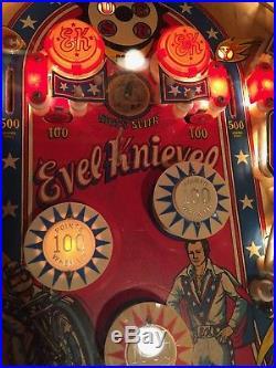 Evel Knievel PINBALL MACHINE 1977 BALLY