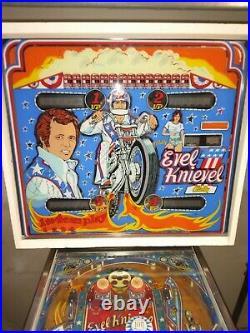 Evel Knievel Pinball Machine Coin Op Bally 1977