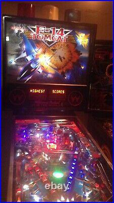 F-14 Tomcat Pinball Machine Williams Arcade LEDs