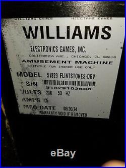 FLINTSTONES Pinball Machine Williams 1994