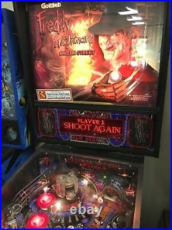 Freddy A Nightmare On Elm Street Pinball Machine Working 100% N. California