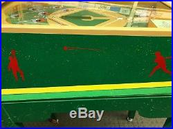 Fully Restored Bally Heavy Hitter 1939 Baseball arcade game with Stand