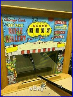 Fully Restored Classic Vintage Chicago Coins Long Range Rifle Arcade Game