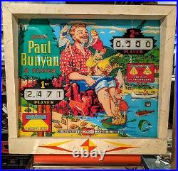 GOTTLIEB 1968 EM PINBALL MACHINE Paul Bunyan RESTORED All Original Parts Works