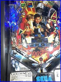 Goldeneye 007 James Bond Pinball Machine Sega Arcade LEDs Free Shipping