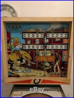 Gotlieb Bronco pinball machine. Good condition