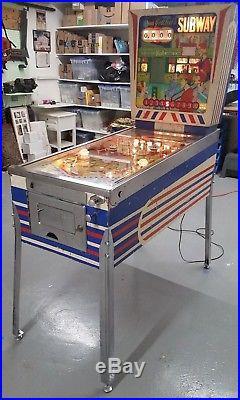 Gottlieb 1966 Subway Vintage Pinball Machine (near Washington, DC)