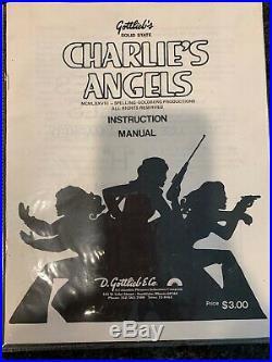 Gottlieb 1978 Charlie's Angel Pinball Machine Vintage with Manual & Original Flyer