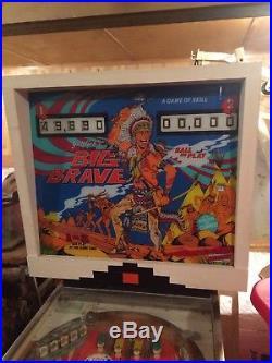 Gottlieb 2 player Big Brave PINBALL Machine