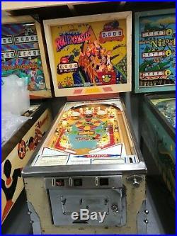 Gottlieb Classic Roller Coaster Pinball Machine 1971
