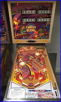 Gottlieb Classic Target Alpha Pinball Machine Nice 15 Targets