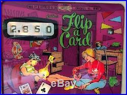 Gottlieb Flip A Card Pinball 1970 working