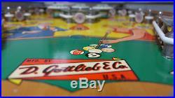 Gottlieb Flipper Pool Pinball Machine Working with LED's! Rare Add-A-Ball