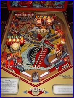 Gottlieb GENIE Vintage Classic Arcade Pinball Machine