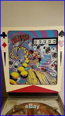 Gottlieb HIGH HAND Pinball Machine, 1974 Works Great