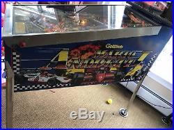 Gottlieb Mario Andretti Pinball Arcade Coin Op Machine Very Nice