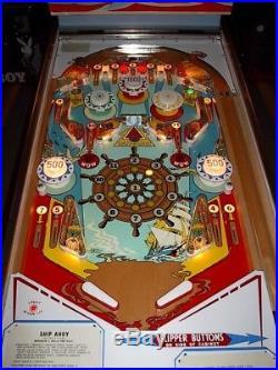 Gottlieb SHIP AHOY Vintage 1976 Classic Arcade Pinball Machine
