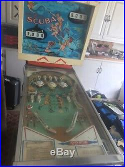 Gottlieb Scuba Pinball Machine Vintage