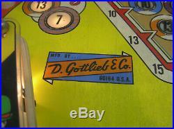 Gottlieb Sure Shot Pinball Machine from 1975, Excellent Wkg Cond, Serviced