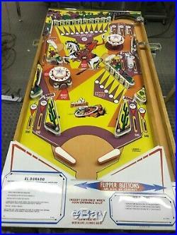 Ground Up Restored Custom Gottlieb El Dorado Collectible Pinball Machine