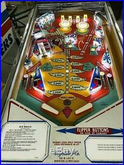 Ground Up Restored Vintage Gottlieb Big Brave Pinball Machine