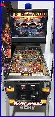 High Speed Pinball Machine Williams Coin Op Arcade 1986