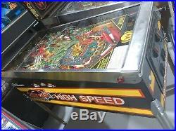 High Speed Pinball Machine Williams Coin Op Arcade 1986 Free Shipping
