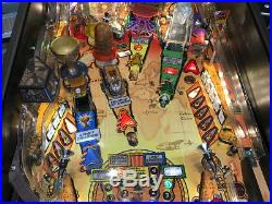 Indiana Jones Pinball Machine By Stern Rare Find Super Huo Game Led Lights