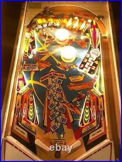 JET SPIN PINBALL MACHINE Gottlieb 1977 EXCELLENT Arcade Game EM Space Rocket