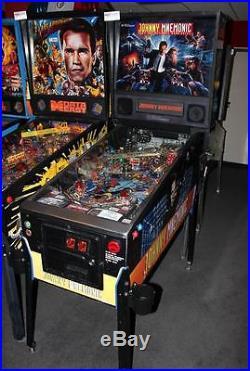 JOHNNY MNEMONIC Pinball Machine Williams 1995 Great Game Great Price