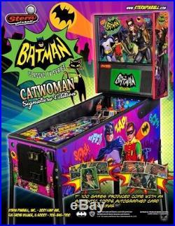 NEW Stern Batman 66 Premium Pinball Machine Free Shipping CatWoman Cat Woman
