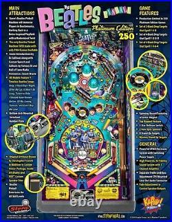NEW Stern Beatles Platinum Edition Pinball Machine Free Shipping! NIB