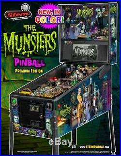 NEW Stern Munsters PREMIUM COLOR Pinball Machine Free Shipping